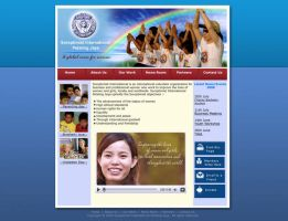 Soroptimist Website concept layout by manteraku