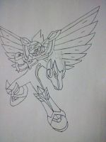 Megaman Starforce Pegasus ink by triggerchrono