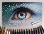 Fantasy eye drawing by Bajan-Art