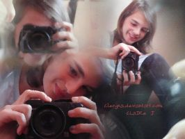 I with my camera by Clergna