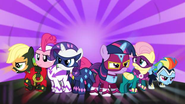 [Collab] The Power Fillies by liamwhite1