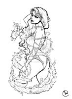 Poison Ivy Inked by VeraArt