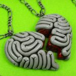 Brainy Best Friends Necklace by beatblack