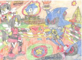 Sonic The Fighters- Honey vs. Metal Sonic by MorphiusX