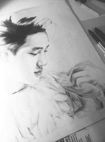 KYUNGSOO IN FEATHERS - wip one by JessiTee