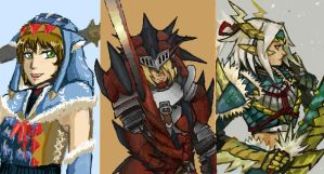 iscribble - Monster Hunter by karasuba