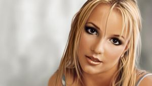 Britney Spears Painting in Photoshop by Packwood