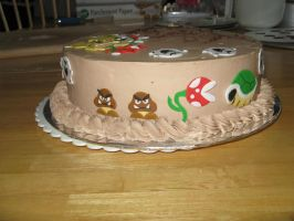 Bowser cake- side view 2 by Sumrlove
