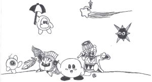 Kirby and Friends by uhnevermind