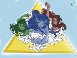 .Three Goddesses of Triforce. by SasamiInu