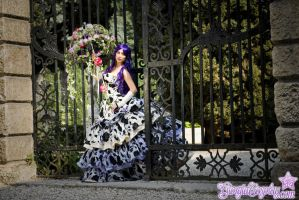 Under my flowered umbrella by Giorgiacosplay