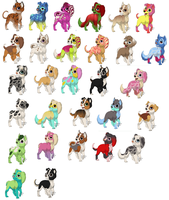 OPEN 28 Puppy Adoptables 3 Points Each by 6LITCH-TH3-W01F