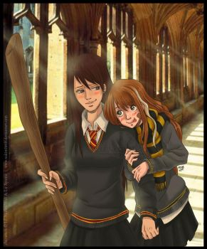 Me and my friend in Harry Potter by NakimiWolf