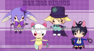 .:Moe Moe Circus Adopts:. OPEN 3/4 (Points/Cash) by PuriPuri-Adoptables