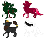 Song Themed Wolf Adopts //CLOSED// by SNlCKERS