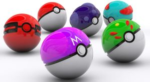 Realistic Pokeballs collection by Power-Excelsior