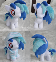 Cozy Vinyl Scratch Filly plush by PinkuArt