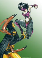 D'vorah vs Mileena by Grace-Zed