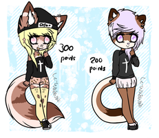 Anthro Adopts [Points] /Closed by CarameIIy