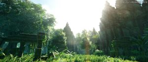 Tropical Jungle - Temple of Light by bayspec4