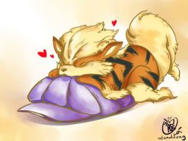 Arcanine  playtime by selenaloong