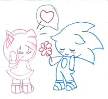 For you...-Chibi Sonamy by LetBri