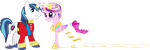 Princess Cadance and Shining Armour Dancing (2) by 90Sigma