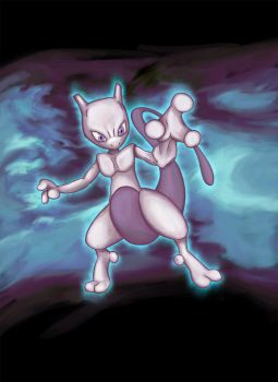 Mewtwo by MPaolillo