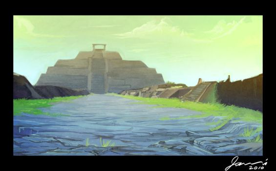 Aztec city revisited by toonimated
