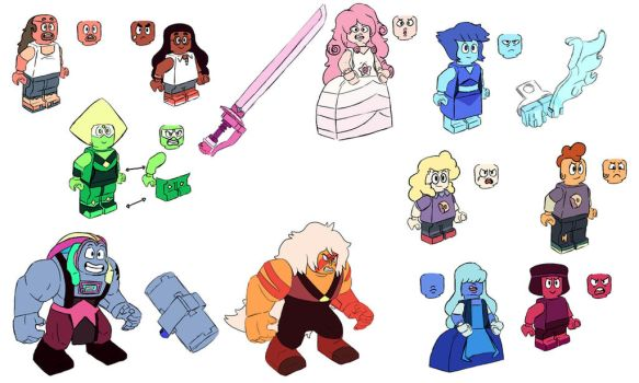 SU Lego figures Round 2 by GingerBaribuu