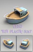 Used Toy Plastic Boat 3D Model by sicklilmonky