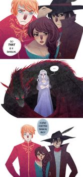 Real dragons have red hair by TheQueenSerena