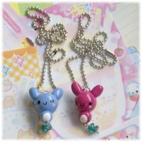 Clay Bunny Necklaces by Keito-San