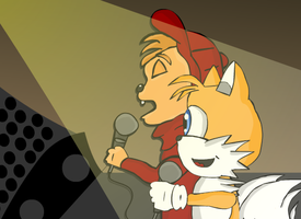 Tails and Alvin Concert by sweetkat22