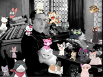 1939 Frollo and anime cats by Riveraria