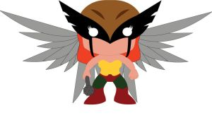 Hawkgirl - POP Heroes Style by POPPED-UP