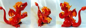 Elemental Dice Dragon: Fire by Shemychan