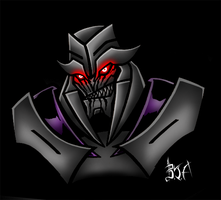 TF Prime: Megatron Coloured by Berty-J-A