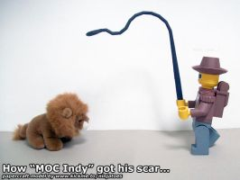 How papercraft Indy got his scar by ninjatoespapercraft