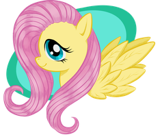 Fluttershy Keychain Revised by BuckingAwesomeArt