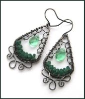 green earrings by annie-jewelry