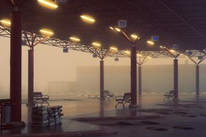 Foggy Garage by OrcunEsin