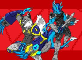 Wing and Qing Long in Friend ^^ by wingwolf88