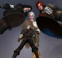 Geralt in Big Trouble by gts69
