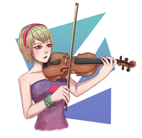 Rose and the Violin by LyritEmbrium