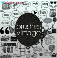 Brushes Vintage by AGirlWellCool