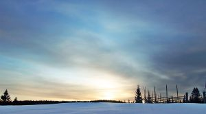 Sundown in the snow by SiimonX