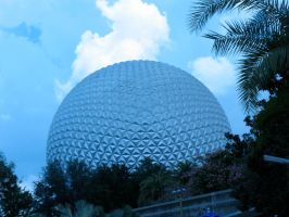 Spaceshipt Earth in Blue Ent 4 by WDWParksGal-Stock