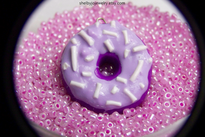 Purple Donut Pedant by Shelby-JoJewelry