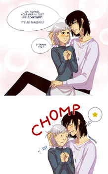 Howl's moving castle: He never learns... by alexielart